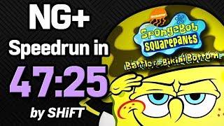 SpongeBob SquarePants: Battle for Bikini Bottom NG+ Speedrun in 47:25 (WR on 7/19/2018)