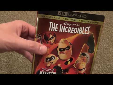 Disney/Pixar The Incredibles 4K Ultra HD Blu-Ray Unboxing