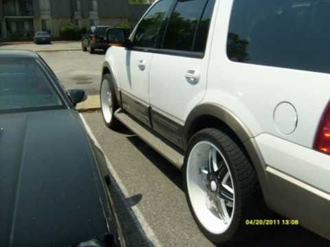 Ford Expedition With Painted White 24s Rims With Spacers Youtube