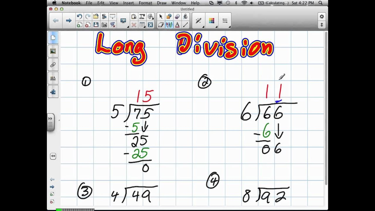 Long Division Grade 4 61912v Youtube