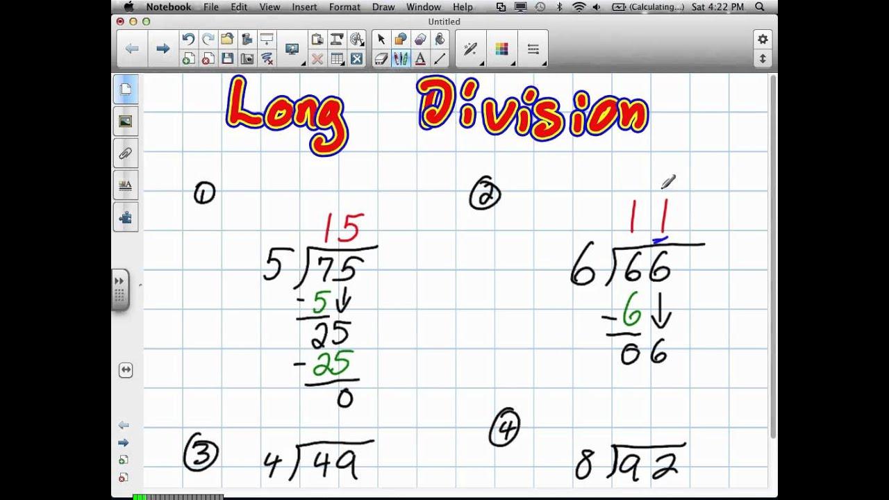 Long Division Grade 4 6 19 12 V