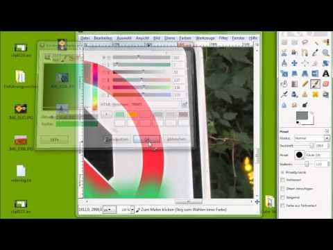 24 Gimp, Teil 2, Navigation, Zoom, Farben, Pinsel, Airbrush, Malmodi