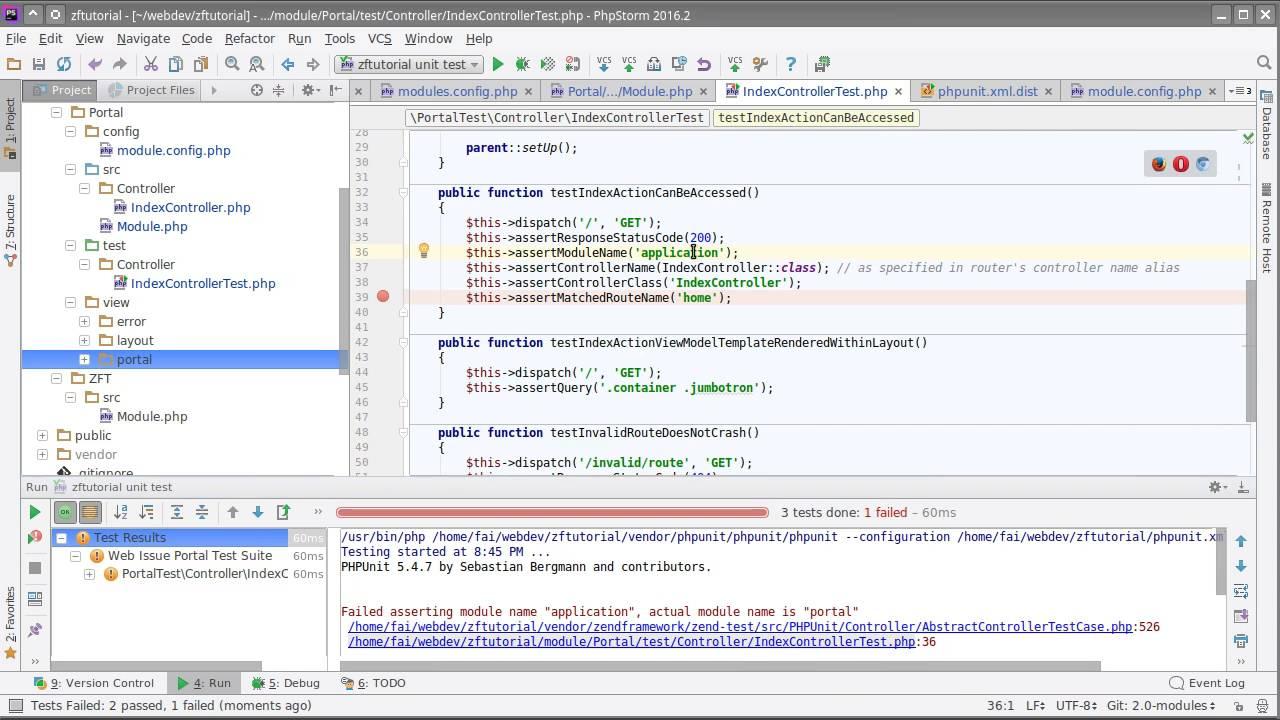 Zend Framework 3 tutorial 2: Module Manager introduction