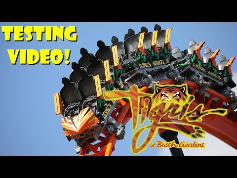 Tigris Roller Coaster At Busch Gardens Tampa Bay Testing Video
