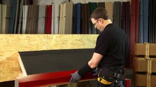 How to Install Eave Trim Using Exposed Fasteners: ABC SL-16® Metal Roofing System