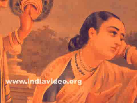 Oleograph of Damayanti by Ravi Varma