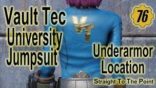 Fallout 76 - Vault Tec (Under Armor) University Jumpsuit - Plan Location