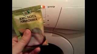 видео как помыть стиральную машину внутри