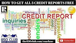 How To Get All 3 Credit Reports For Free In 2020