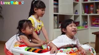춤추는 라임 아기? 피셔프라이스 아기 피아노 보라조이와 함께하는 장난감 놀이 LimeTube & Toy 라임튜브
