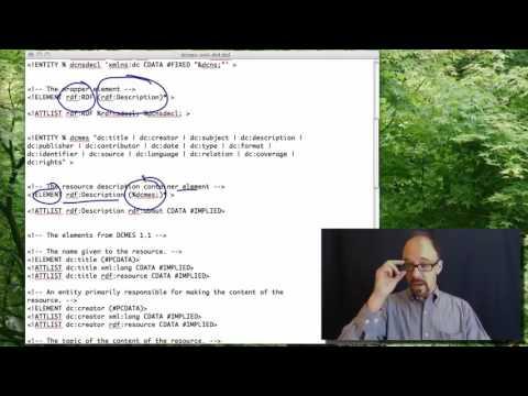 Metadata MOOC 3-7: Dublin Core DTD