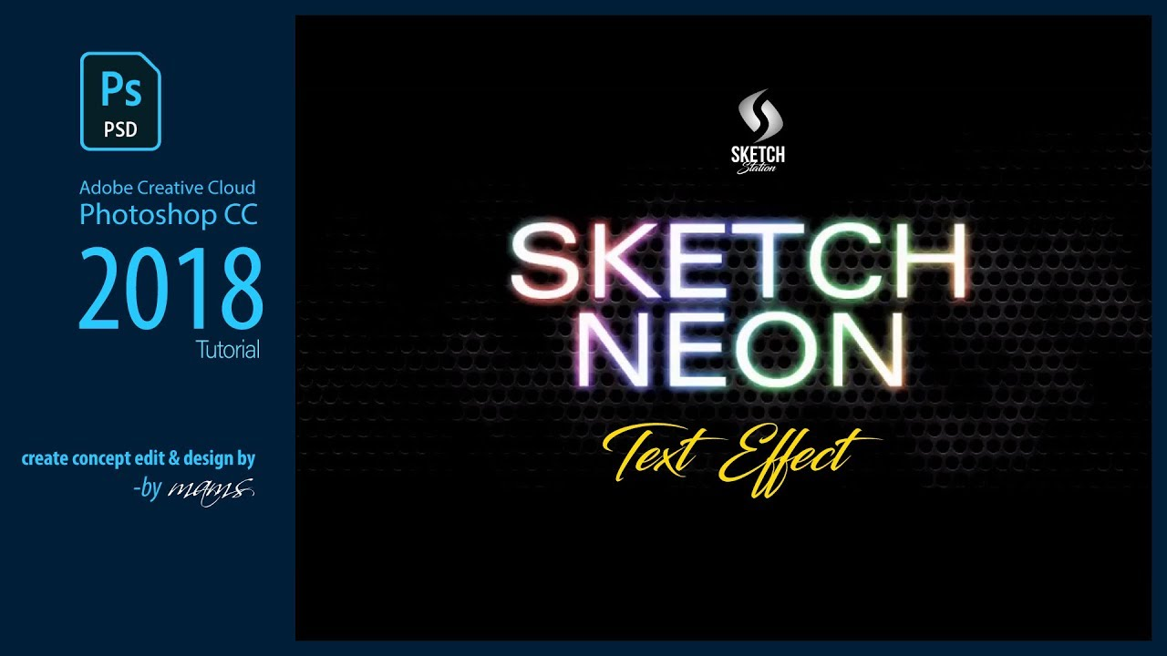 How to make neon text effect photoshop in photoshop i tutorial by how to make neon text effect photoshop in photoshop i tutorial by mams i sketch station baditri Image collections