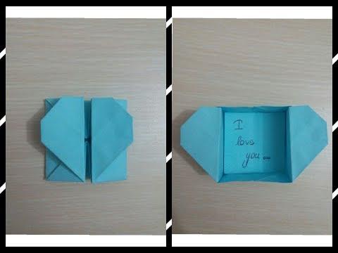 Origami Kalp Kutu Yapımı / Heart Box