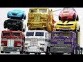 Transformers Stop Motion - Optimus Prime, Bumblebee, Tobot Robot & Lego Robbery Car Toys