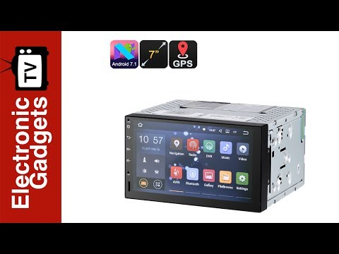 7 Inch 2 DIN Android 7.1 Car Stereo / HD Car DVD Player With GPS And Android Map