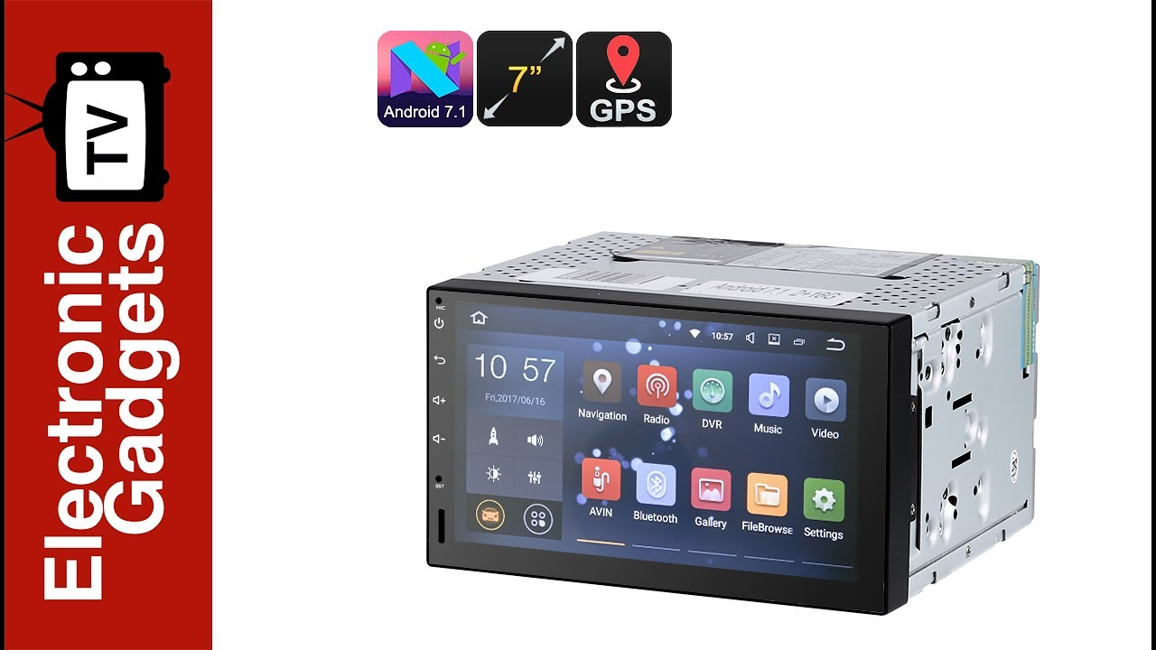 7 inch 2 din android 7 1 car stereo hd car dvd player with gps and android map [ 1280 x 720 Pixel ]