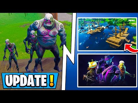 *ALL* Fortnite 6.2 Changes!   Zombies, Evolving Skin, 2 Weapons! ( Update )