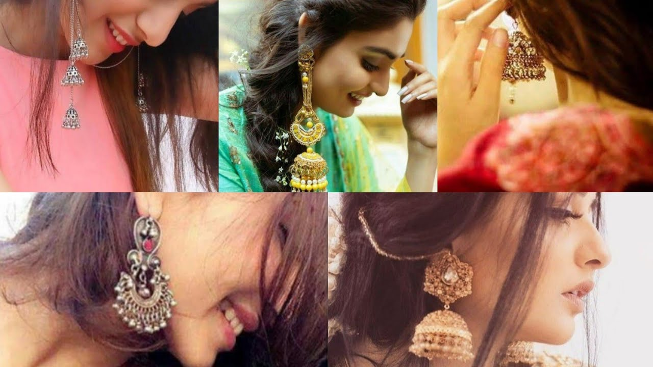 Selfie Poses For Girls With Earring Clousup Selfie Poses For Girls With Jhumka Youtube Pout can also be an expression for displeasure. selfie poses for girls with earring clousup selfie poses for girls with jhumka