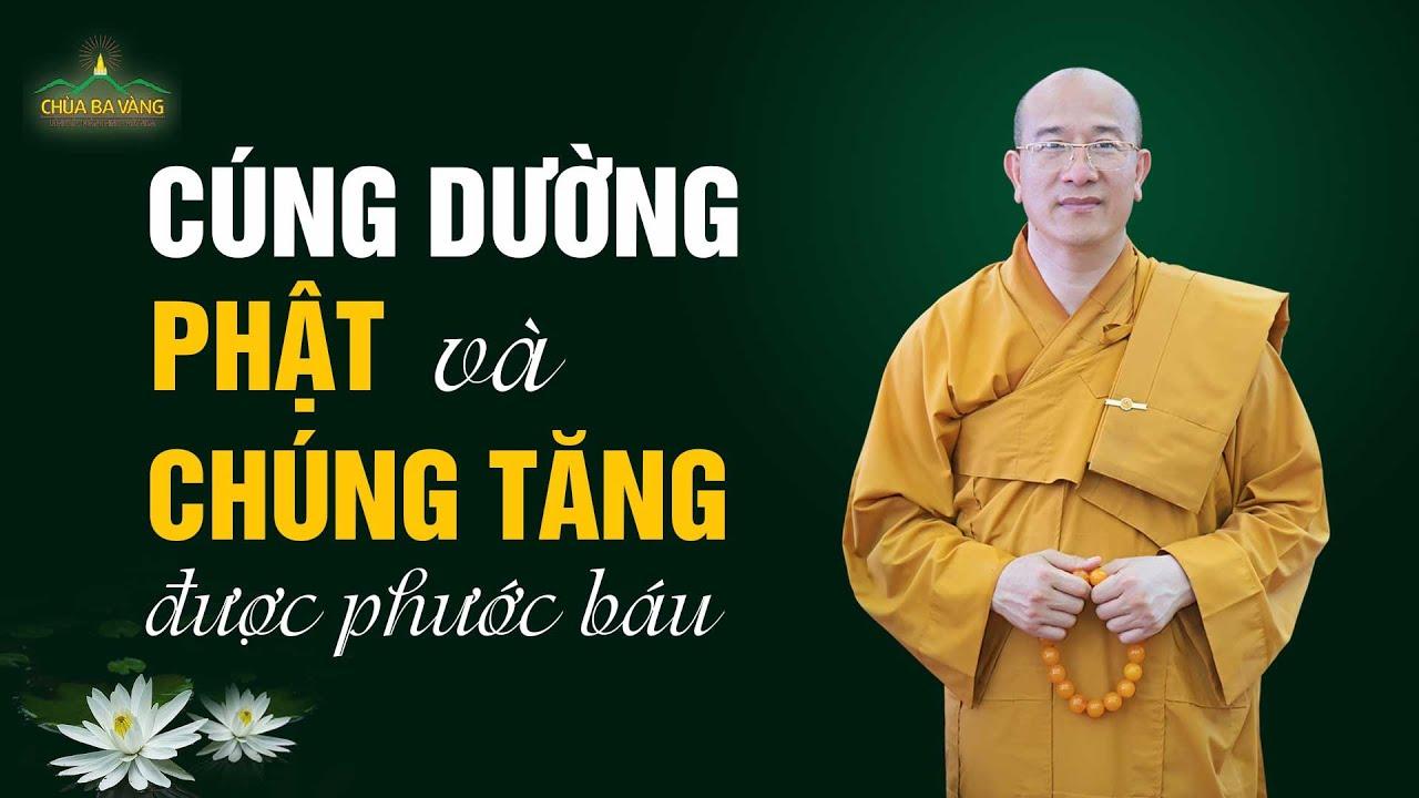 Pháp thoại: Cúng dường Phật và chúng Tăng được phước báu | Thầy Thích Trúc Thái Minh
