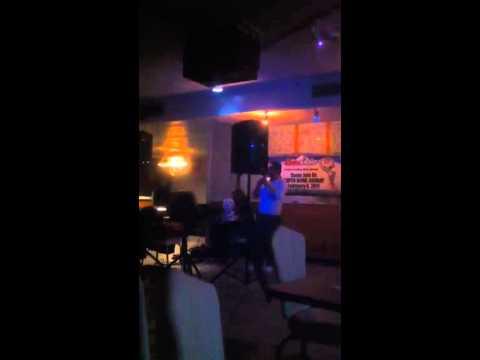 Gypsy Kwiek Andrew Singing Me&Mrs Jones at the karaoke