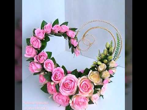 heart shaped flower arrangements