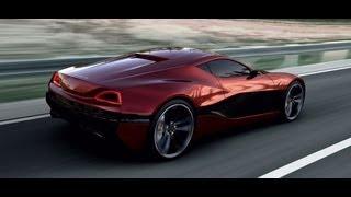 rimac electric concept one super car 1088hp