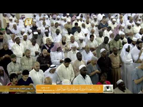 صلاة التهجد ليلة 22 رمضان 1437 : الشيخين سعود الشريم و خالد الغامدي