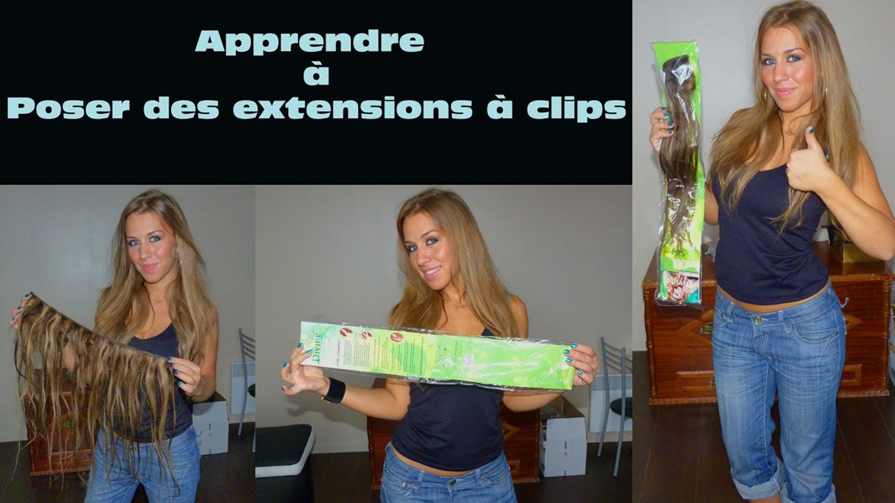 pose extensions cheveux clips tuto simple effet volumineux youtube. Black Bedroom Furniture Sets. Home Design Ideas