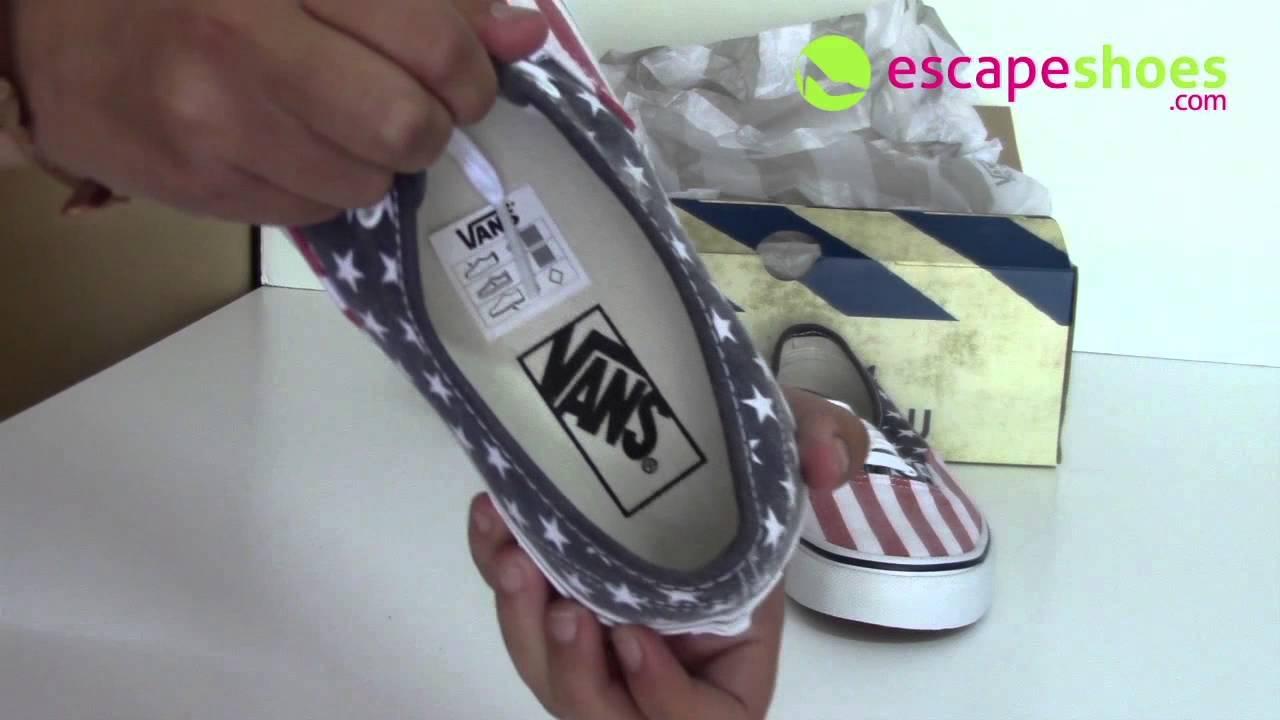 4e29286fde Sneakers VANS VVOEC7H Authentic Van Doren Stars Stripes - YouTube