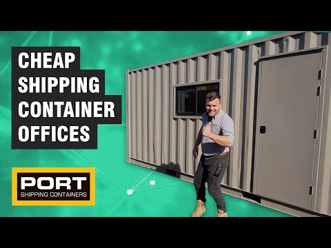 Basic Shipping Container Offices On Sale - CHEAP!