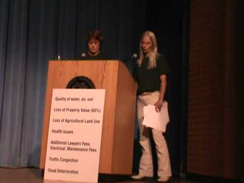 Carol French and Carolyn Knapp talk in Richmondville- NY