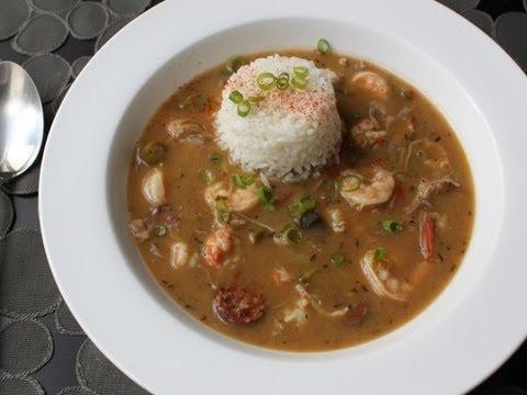 Duck Sausage Shrimp Gumbo Recipe - Cajun Gumbo with Andouille, Duck Leg, Shrimp and Langoustine