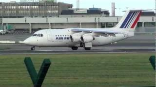 avro rj85 bae 146 of air france takeoff dublin