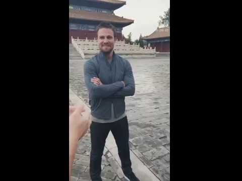 Stephen Amell's live video from the Ancestral Temple in Beijing