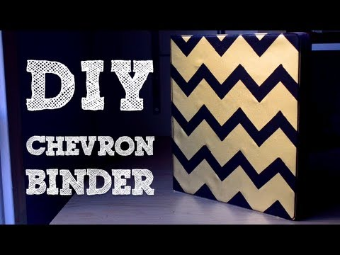 How to: Add Chevron Without Measuring!   DIY Binder