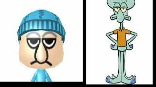"3ds ""SpongeBob SquarePants"" Mii Characters and QR Codes"