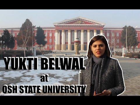 Yukti Belwal at Osh State University of Krygyzstan