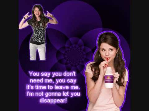 Selena Gomez Disappear With Lyrics On Screen