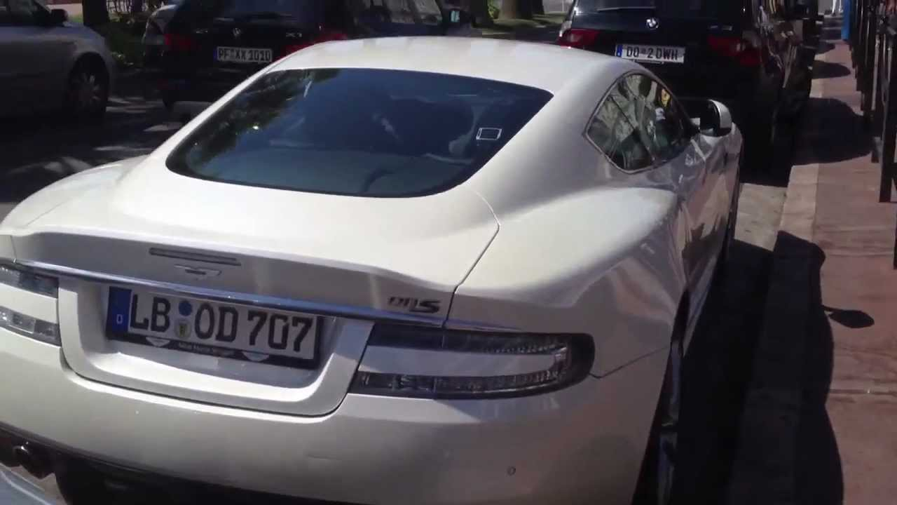 aston martin dbs pearl white in cannes hd youtube. Black Bedroom Furniture Sets. Home Design Ideas