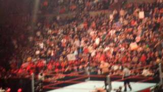 WWE RAW Kane beating Jamie Noble in under a minute LIVE in Spokane