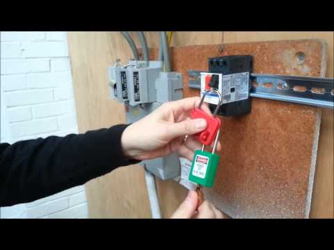 How to lockout a GV2ME16 Circuit Breaker  YouTube