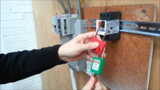 How to lockout a GV2ME16 Circuit Breaker