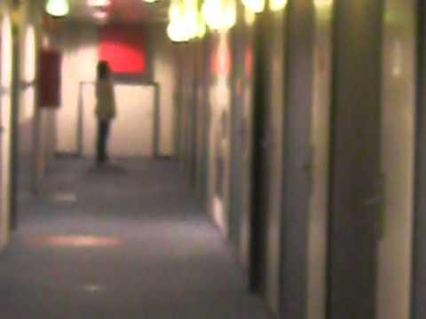 Goofing inside Helsinki Hostel