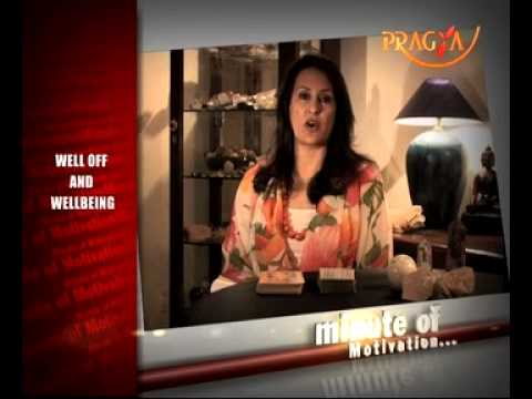 Well Off And Wellbeing-Bindu Maira - Holistic Counselor - Motivational quotes on Pragya TV