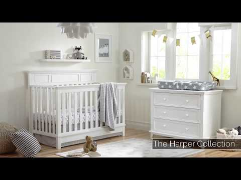 Harper 4-in-1 Convertible Crib | Baby Furniture Sets | Kolcraft Baby