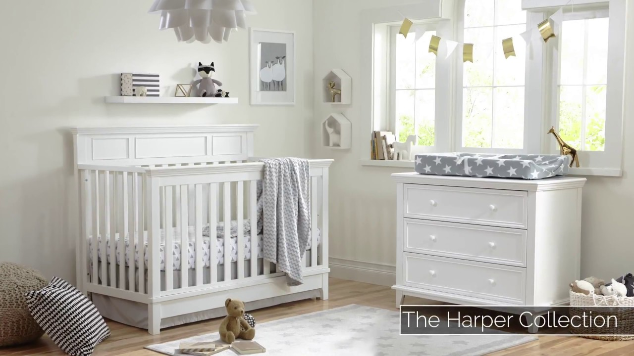 Harper 4-in-1 Convertible Crib | Baby Furniture Sets | Kolcraft Baby