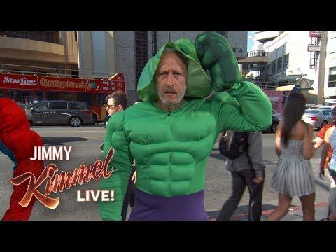 Jon Stewart is a Hollywood Blvd Superhero???