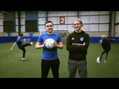 SHOOTING CHALLENGES VS EVERTON WONDERKID TOM DAVIES!!!