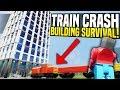 TRAIN CRASH BUILDING SURVIVAL - Brick Rigs Gameplay | Train Vs Skyscraper Challenge!