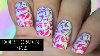 Swirly Double Gradient Nail Art Tutorial